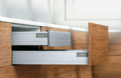 Blum. Pre-Built TANDEMBOX plus BLUMOTION Inner drawer, height M (96.5 mm), 30 kg, NL=450 mm. R9006 white aluminium.